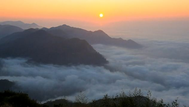 Вид с горы Алишань