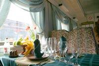 Вагон-ресторан может не уступать по комфортабельности самым элитным заведениям крупных городов России