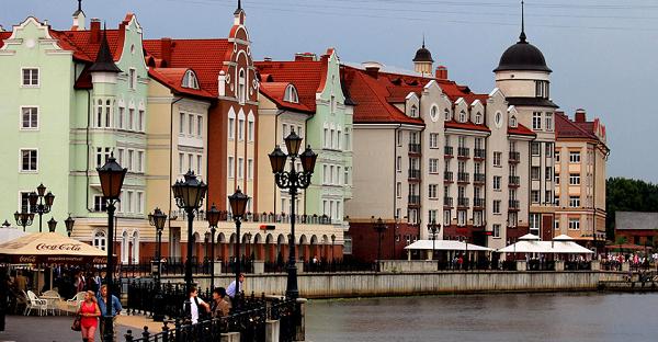 Вид на одну из улиц Калининграда