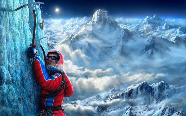 фото в горах альпинисты