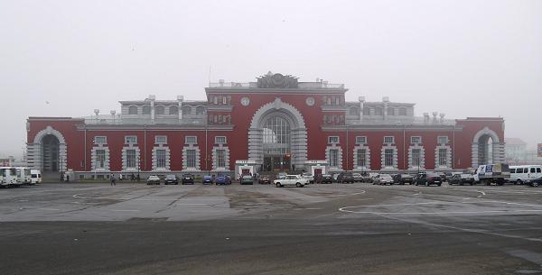 Здание вокзала в Курске