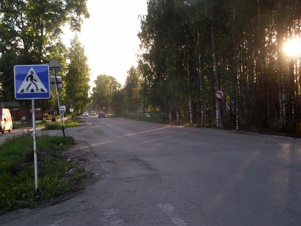 Улица в Плесецке
