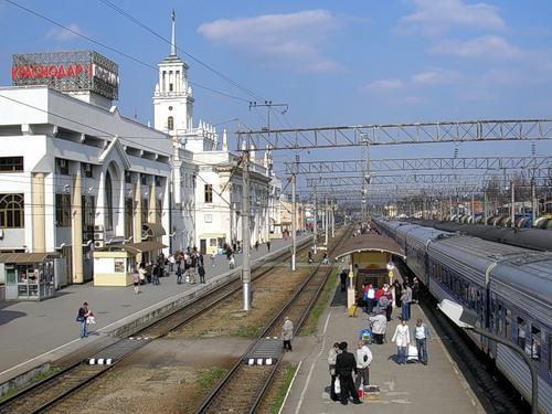 Платформы железнодорожного вокзала Краснодар-1