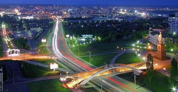 Вид вечернего Белгорода