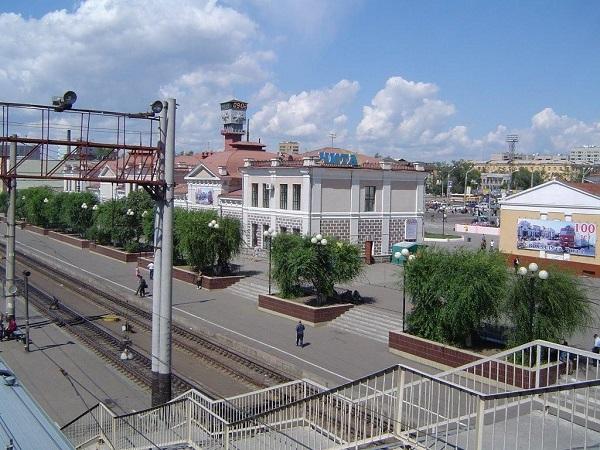 Платформа вокзала Чита-2