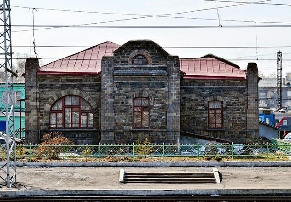 Первое здание вокзала Новокузнецк
