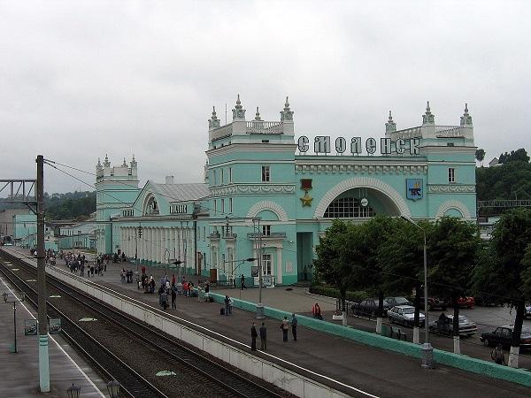 На фото – вокзал Смоленск-Центральный
