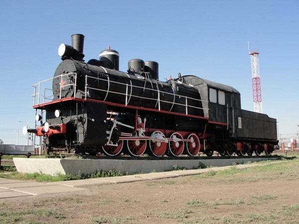 Первый паровоз, приехавший в Магнитогорск