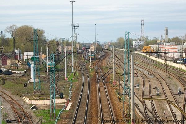 Железнодорожные пути, идущие в Тверь