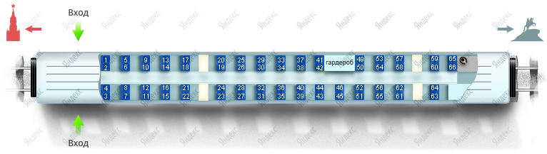 Схема вагона эконом-класса (№3